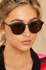 1 Gotta Run Matte Black Smoke Sunglasses at reddressboutique.com