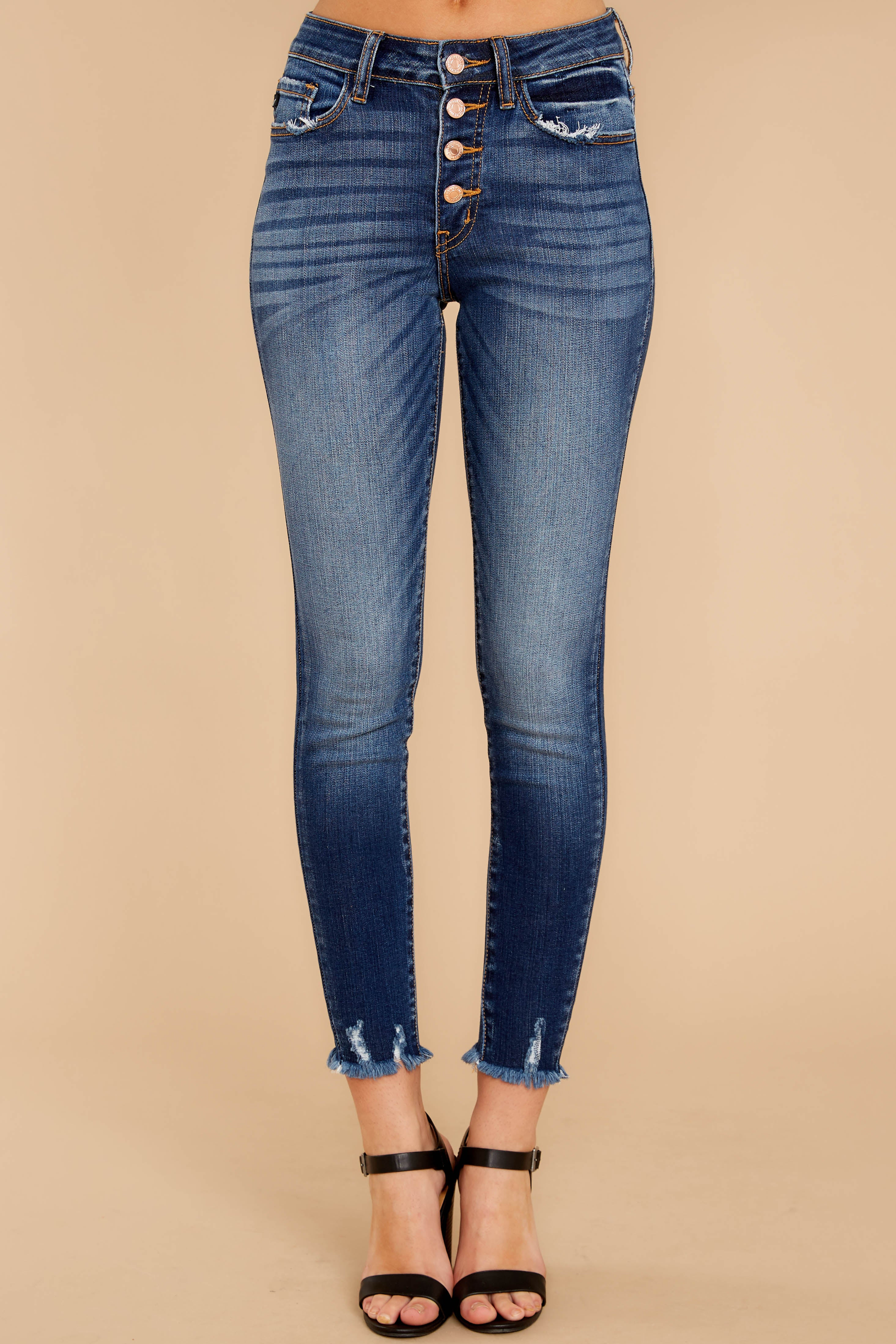 Keep This Going Dark Wash Skinny Jeans