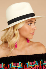 5 Filled To The Brim Ivory Hat at reddressboutique.com