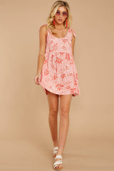 2 Out In The Sun Pink Floral Print Dress at reddress.com