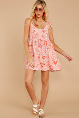 3 Out In The Sun Pink Floral Print Dress at reddress.com