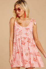 5 Out In The Sun Pink Floral Print Dress at reddress.com