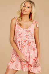 1 Out In The Sun Pink Floral Print Dress at reddress.com