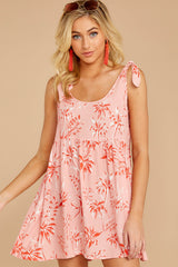6 Out In The Sun Pink Floral Print Dress at reddress.com