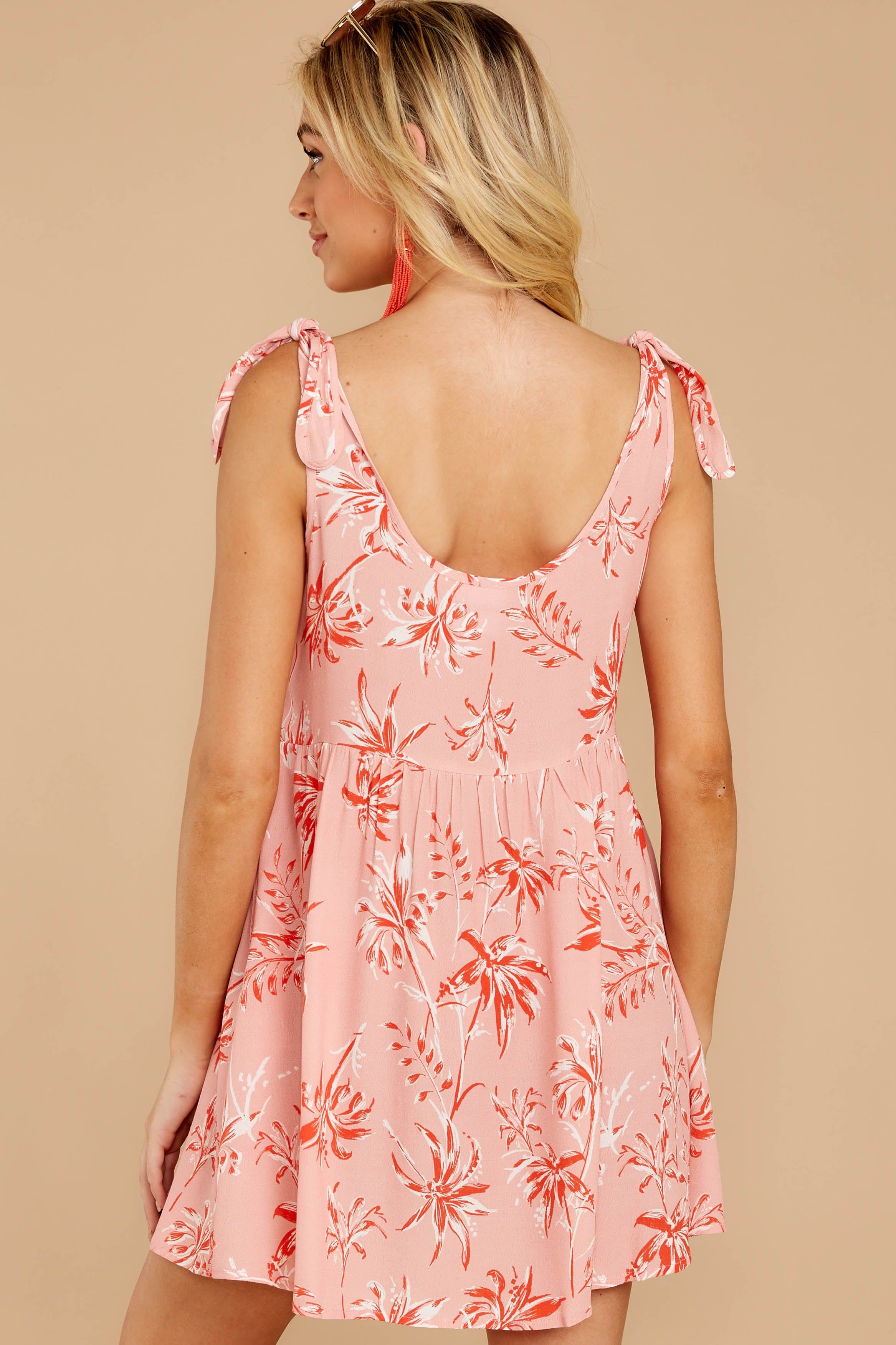 7 Out In The Sun Pink Floral Print Dress at reddress.com