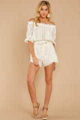 3 Forever After Ivory Eyelet Two Piece Set at reddressboutique.com