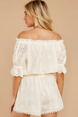 7 Forever After Ivory Eyelet Two Piece Set at reddressboutique.com