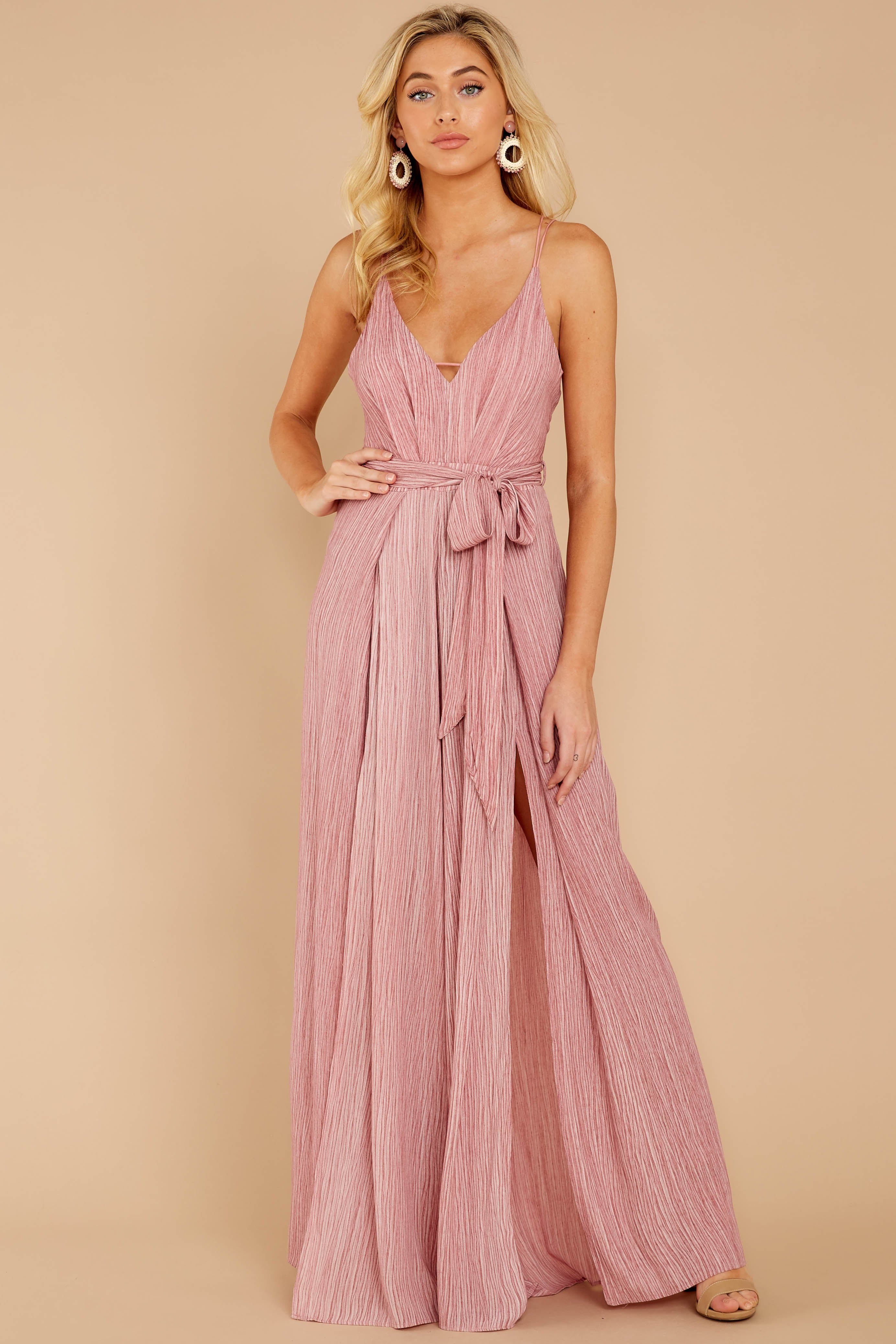 2 Summertime Romance Rose Pink Jumpsuit at reddressboutique.com