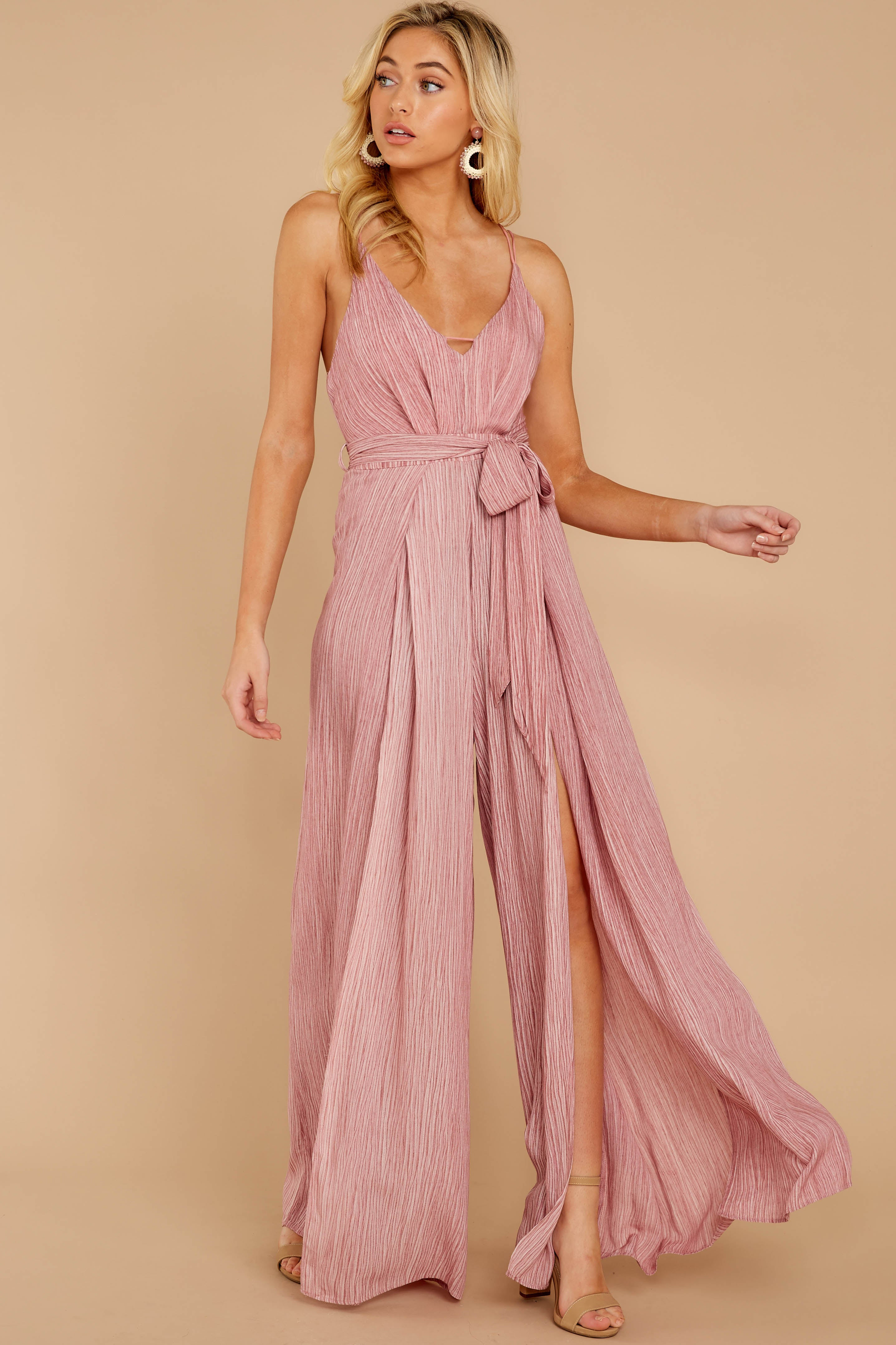 4 Summertime Romance Rose Pink Jumpsuit at reddressboutique.com