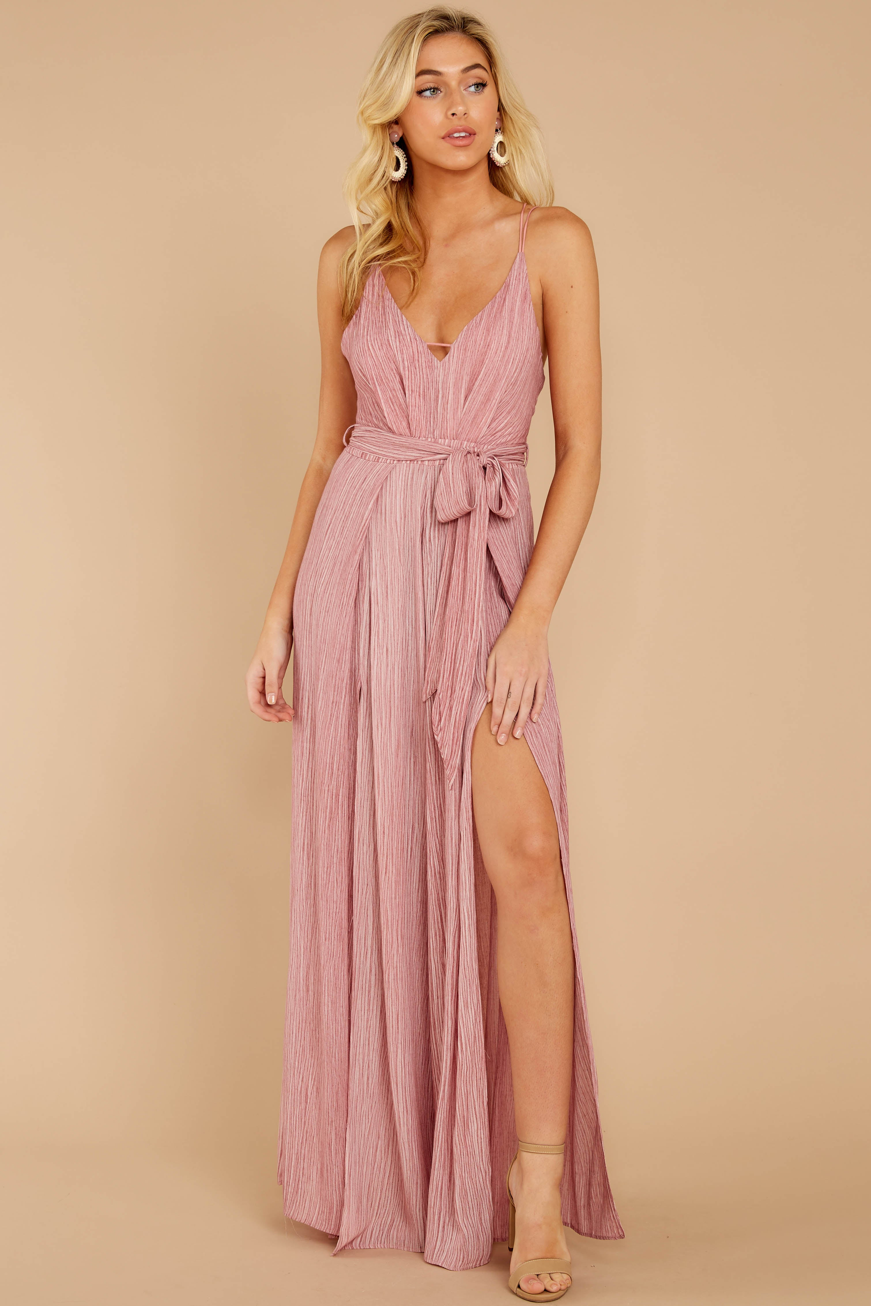 5 Summertime Romance Rose Pink Jumpsuit at reddressboutique.com