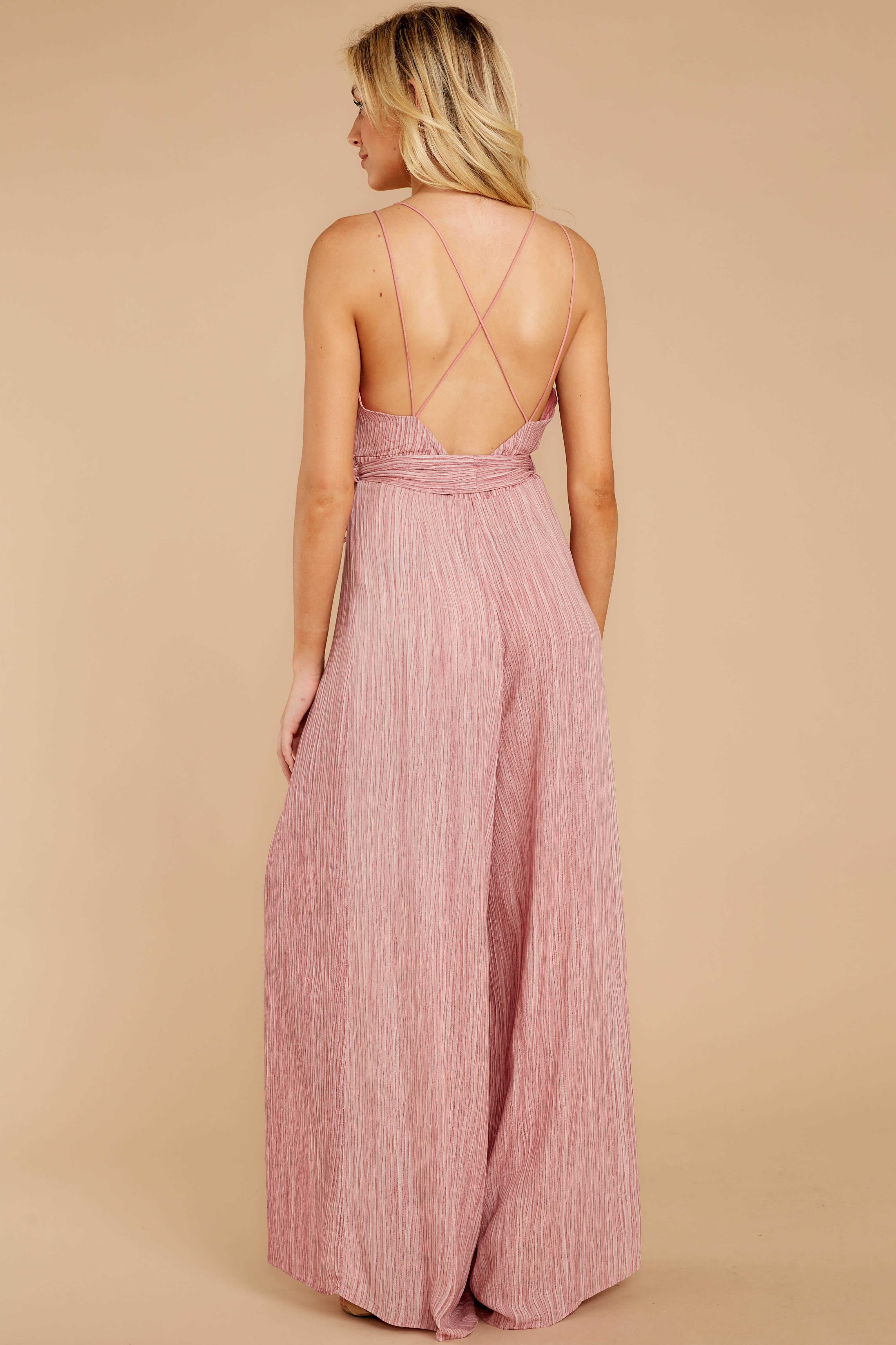 6 Summertime Romance Rose Pink Jumpsuit at reddressboutique.com