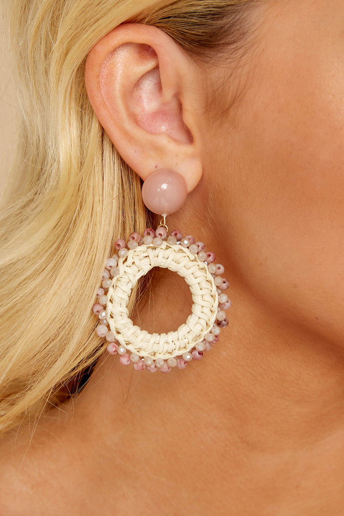 1 Not Too Late Ivory Earrings at reddressboutique.com