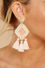 1 Look Forward To It Light Pink Earrings at reddressboutique.com