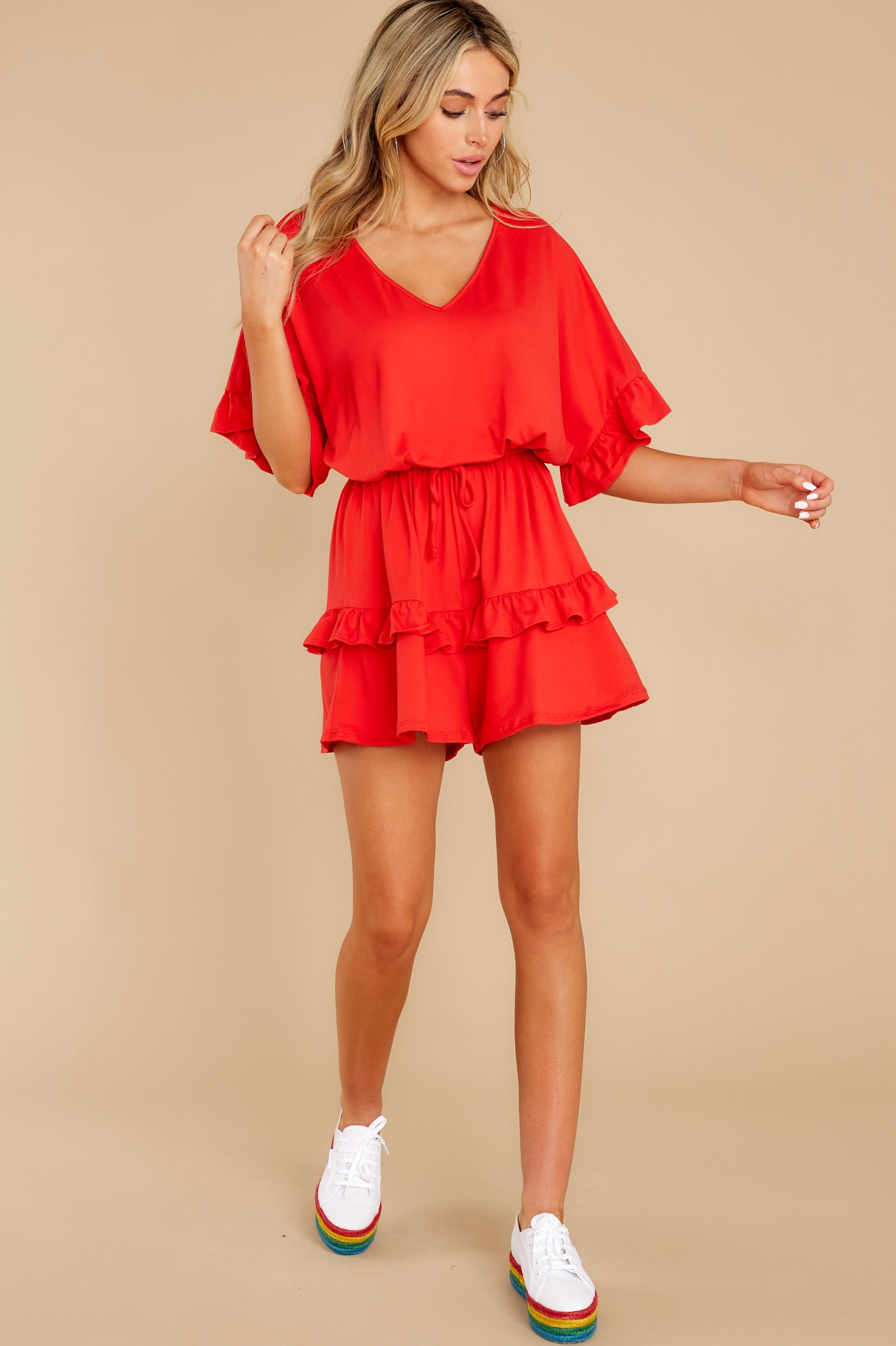 2 Serene Dream Red Romper at reddress.com