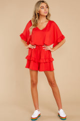 3 Serene Dream Red Romper at reddress.com
