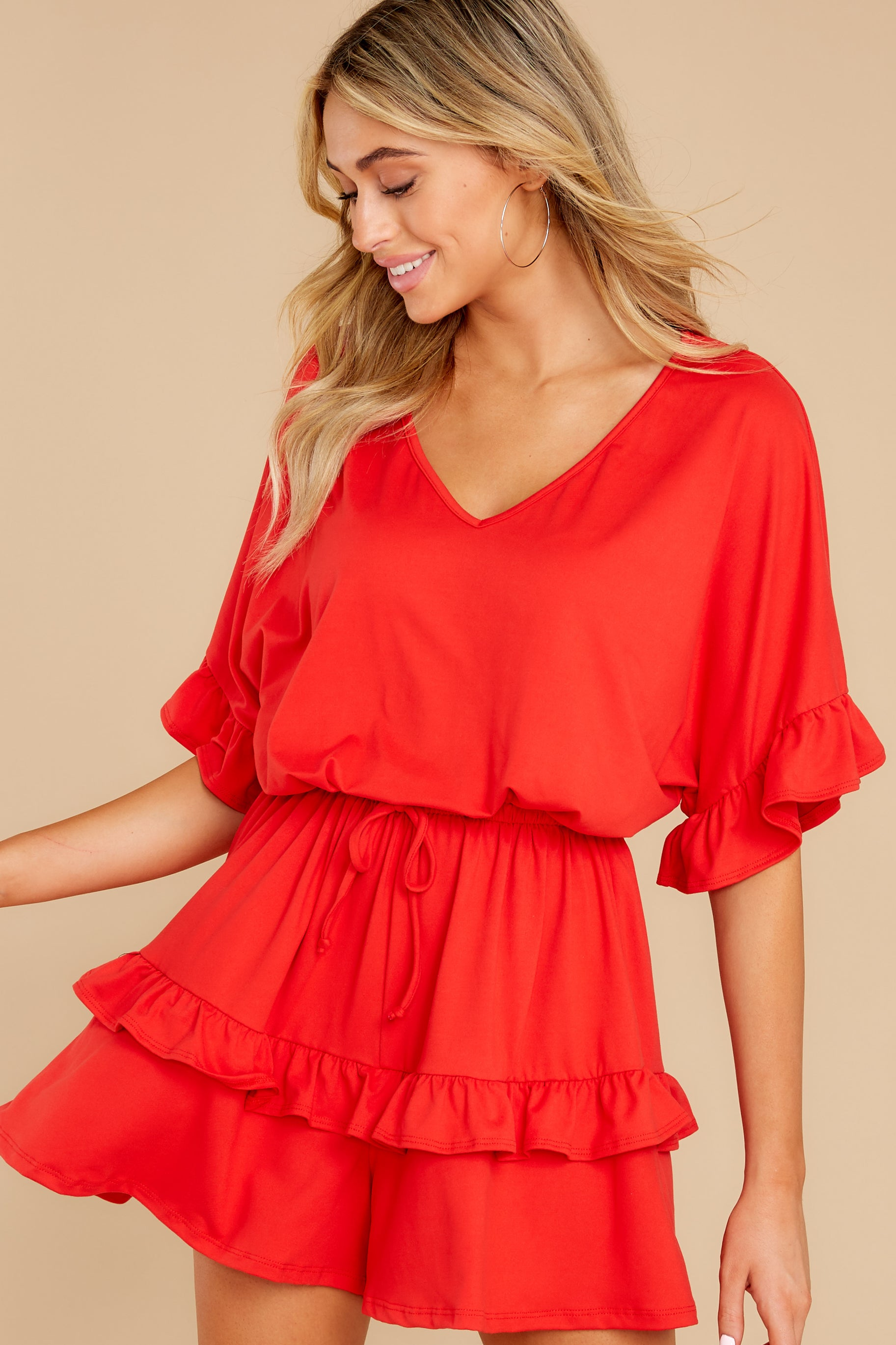 5 Serene Dream Red Romper at reddress.com