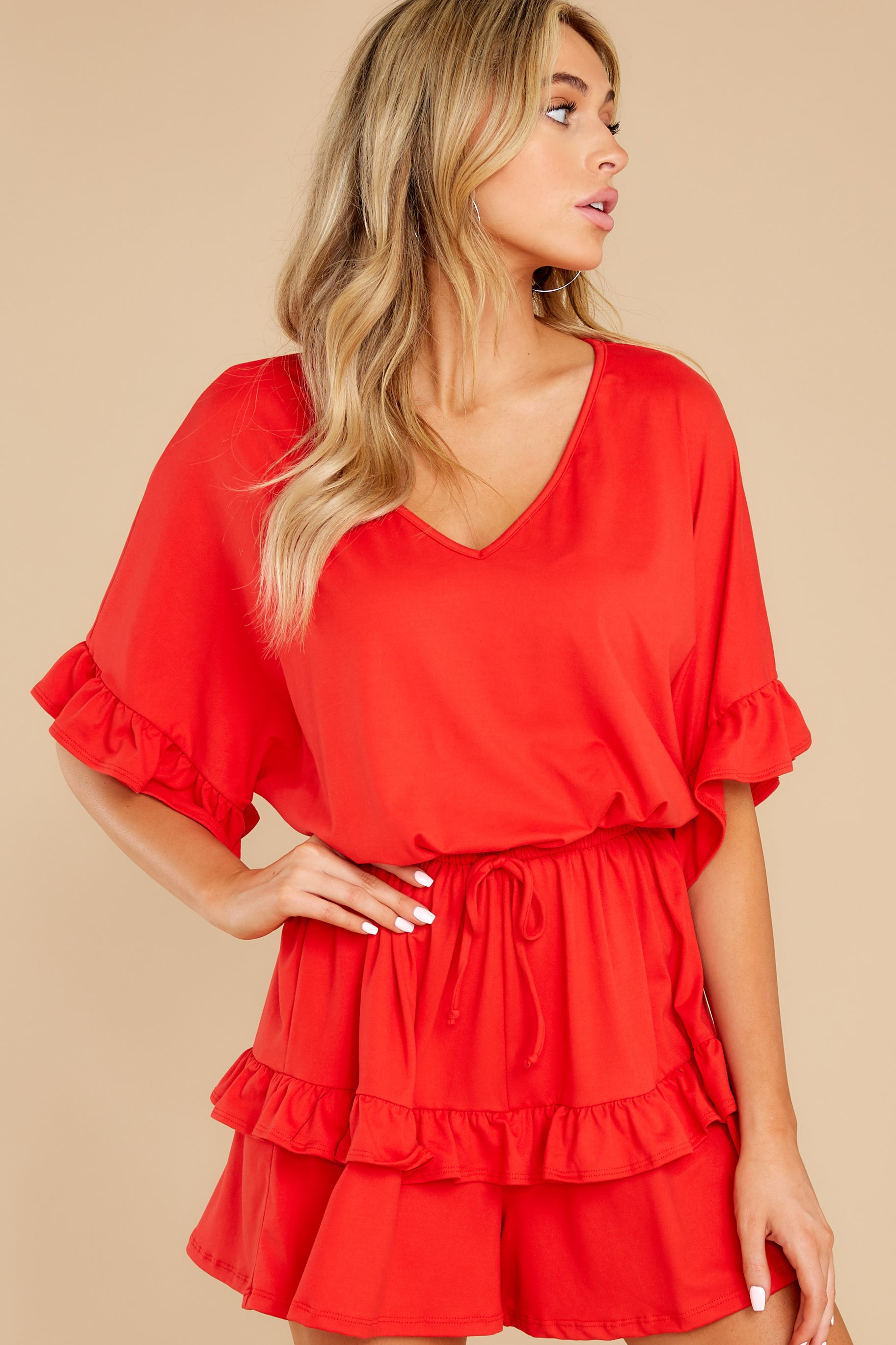 7 Serene Dream Red Romper at reddress.com