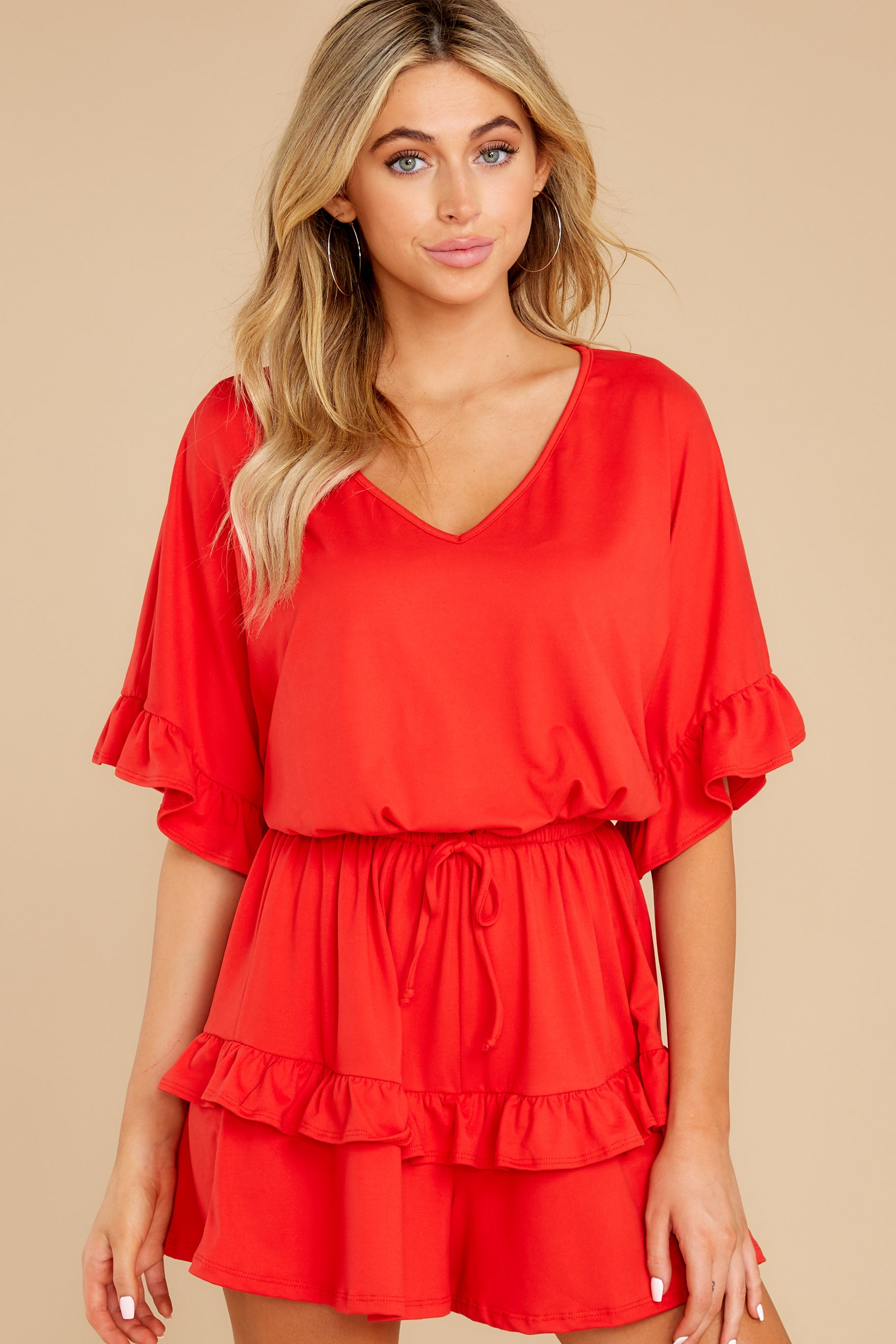 8 Serene Dream Red Romper at reddress.com