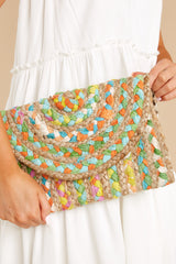 1 Perfect Pick Purple And Bright Yellow Multi Clutch at reddress.com