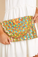 1 Perfect Pick Green And White Multi Clutch at reddress.com