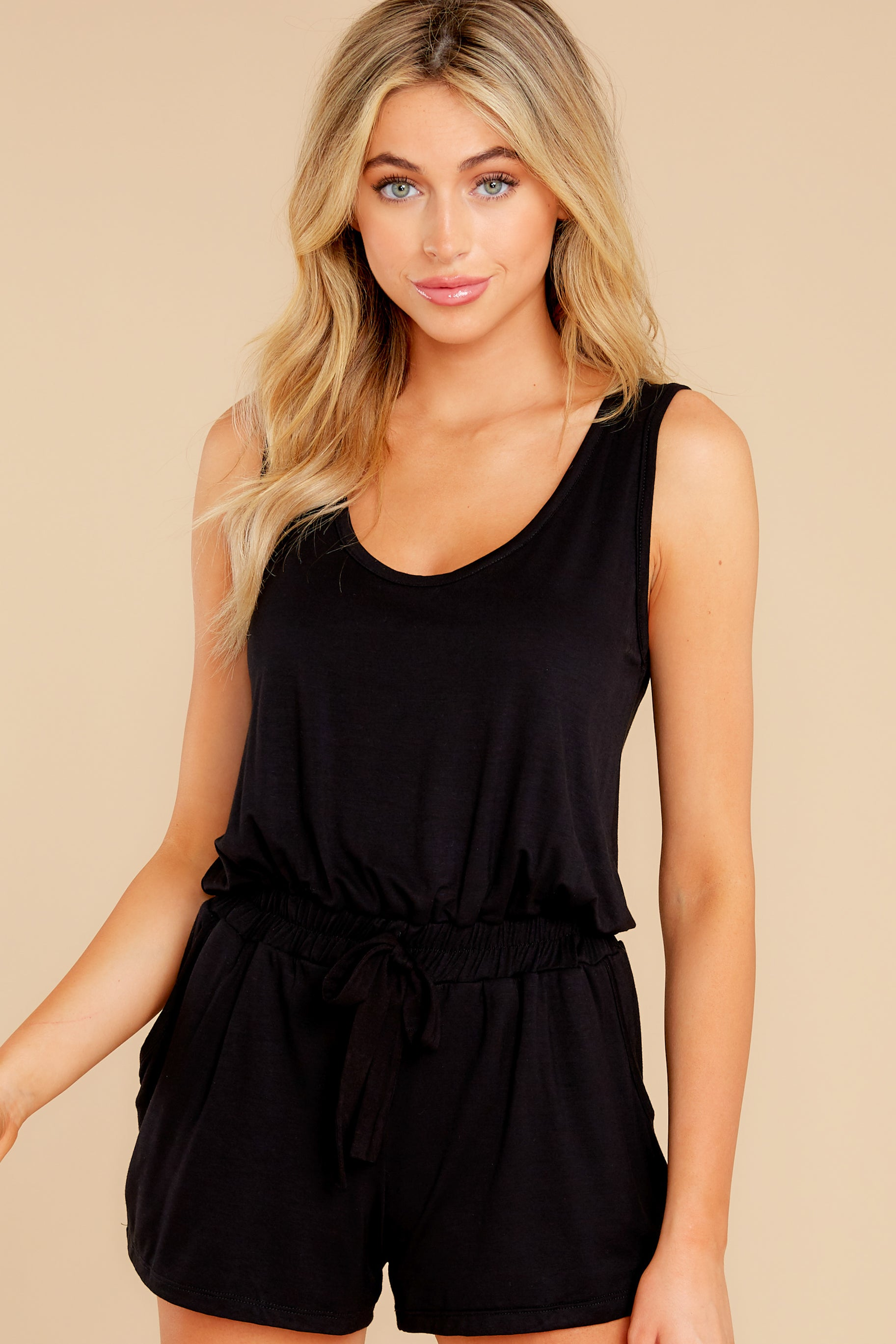 6 Never Let Go Black Romper at reddress.com