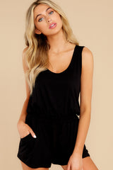 7 Never Let Go Black Romper at reddress.com