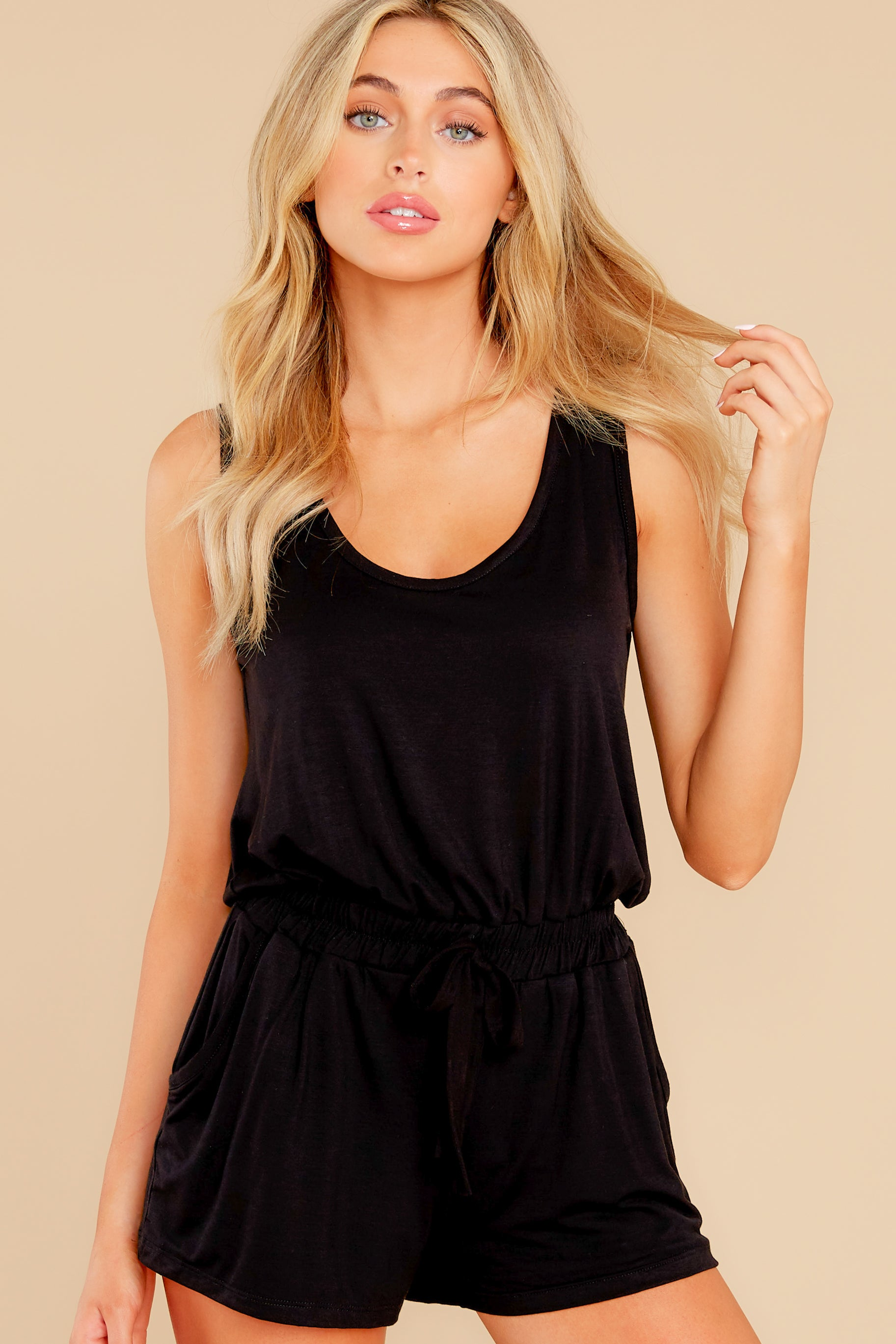 5 Never Let Go Black Romper at reddress.com