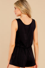 8 Never Let Go Black Romper at reddress.com