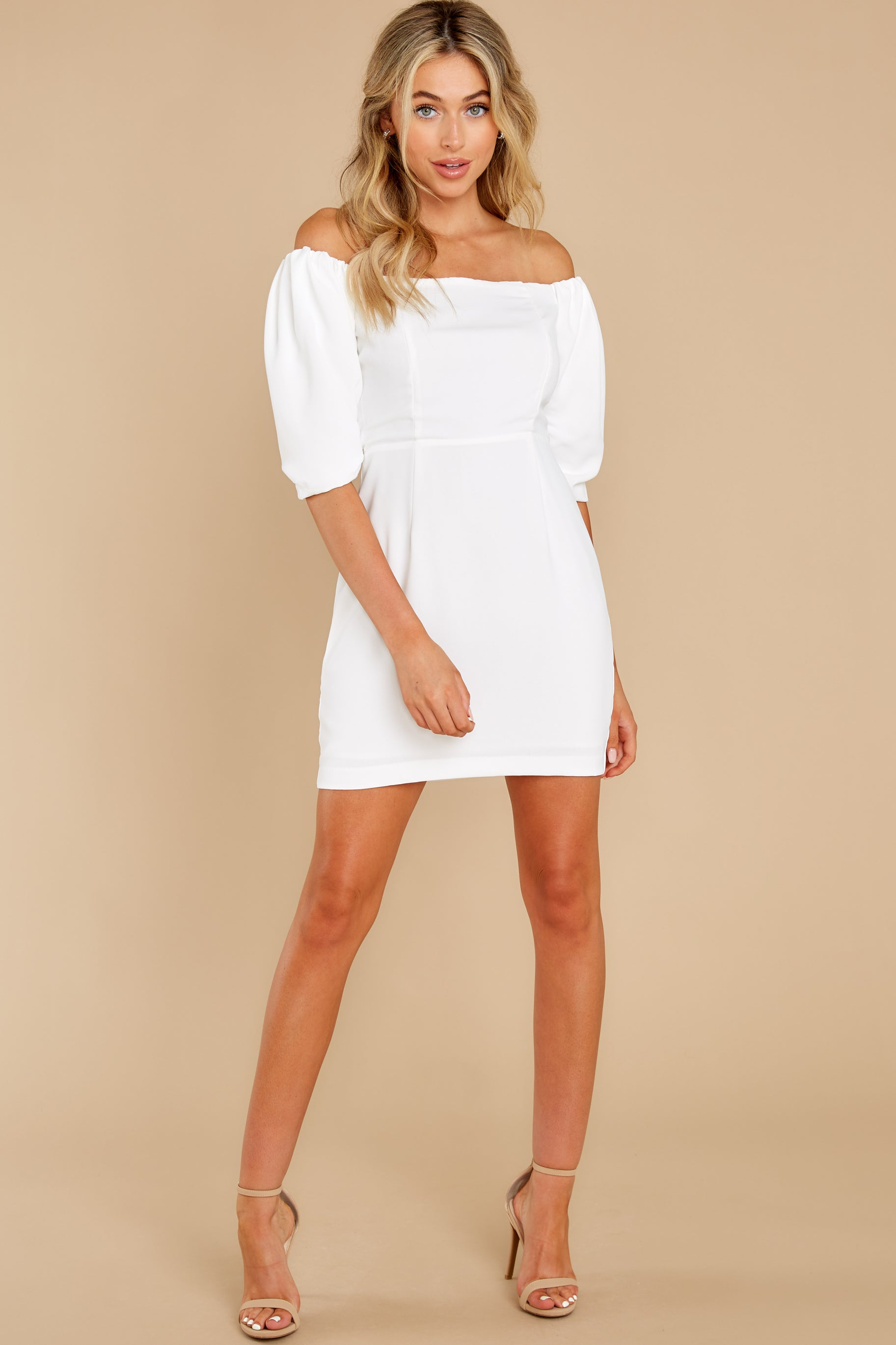 2 Lofty Ambitions White Off The Shoulder Dress at reddress.com