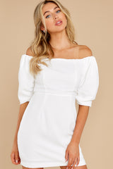 4 Lofty Ambitions White Off The Shoulder Dress at reddress.com