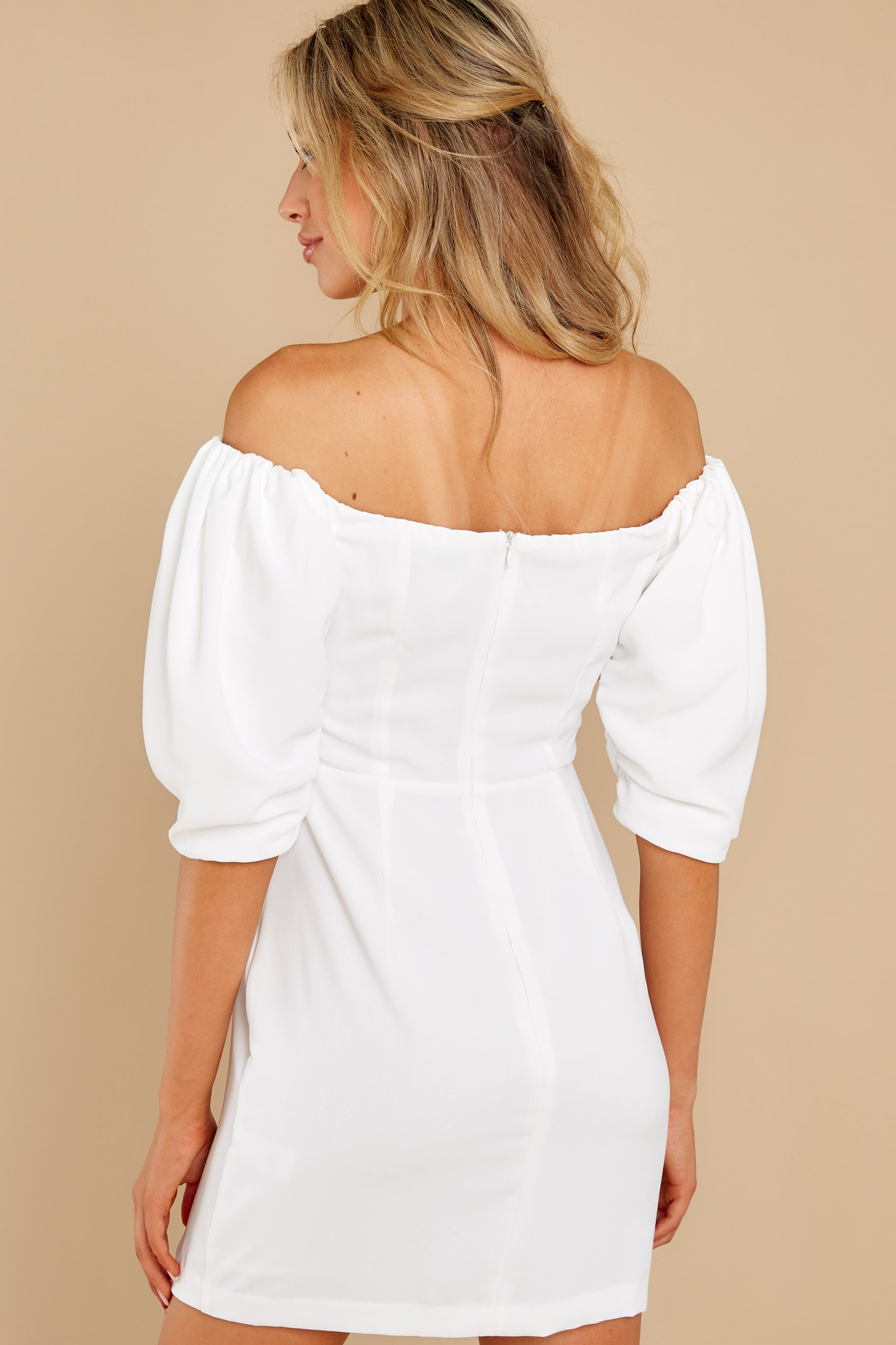 6 Lofty Ambitions White Off The Shoulder Dress at reddress.com