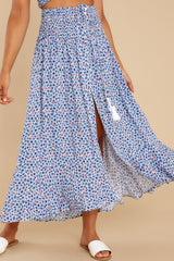 10 Lifting The Spirits Blue Floral Print Two Piece Set at reddress.com