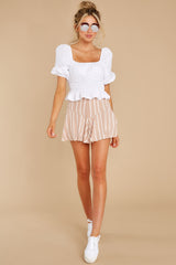 3 Heart Strings White Blouse at reddress.com