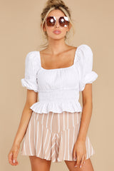 5 Heart Strings White Blouse at reddress.com