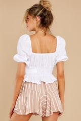 7 Heart Strings White Blouse at reddress.com
