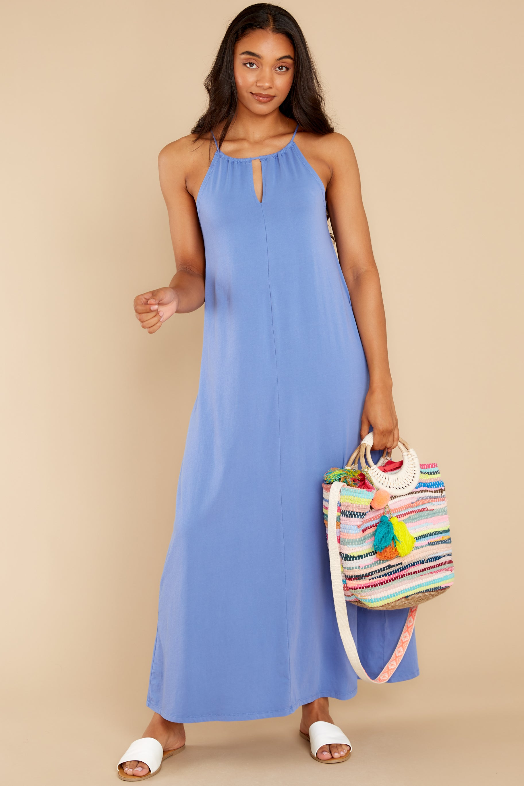 1 Marta Washed Indigo Maxi Dress at reddress.com