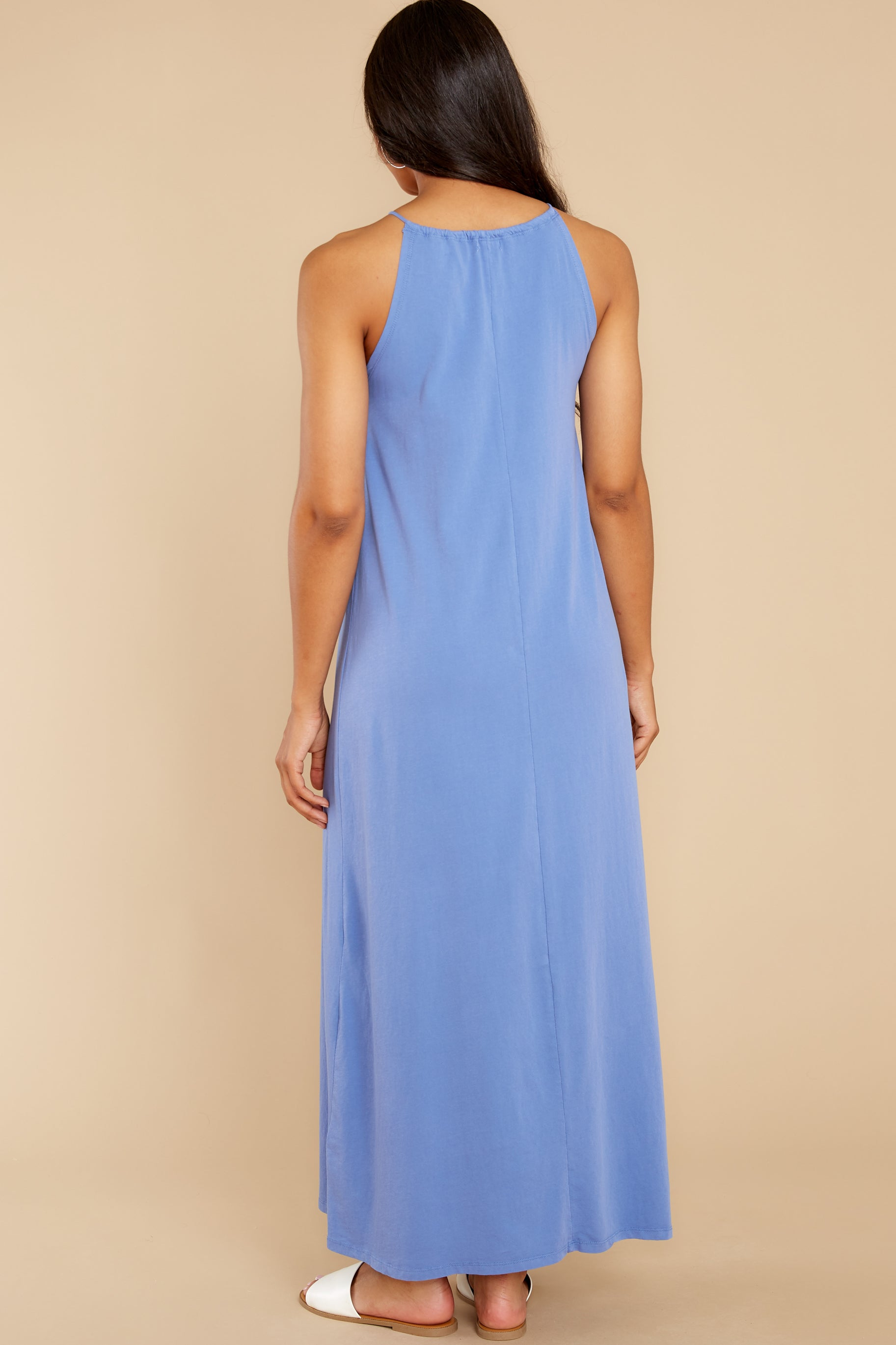 7 Marta Washed Indigo Maxi Dress at reddress.com