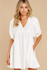 6 Being Subtle Off White Dress at reddress.com