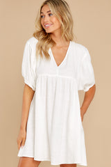 4 Being Subtle Off White Dress at reddress.com