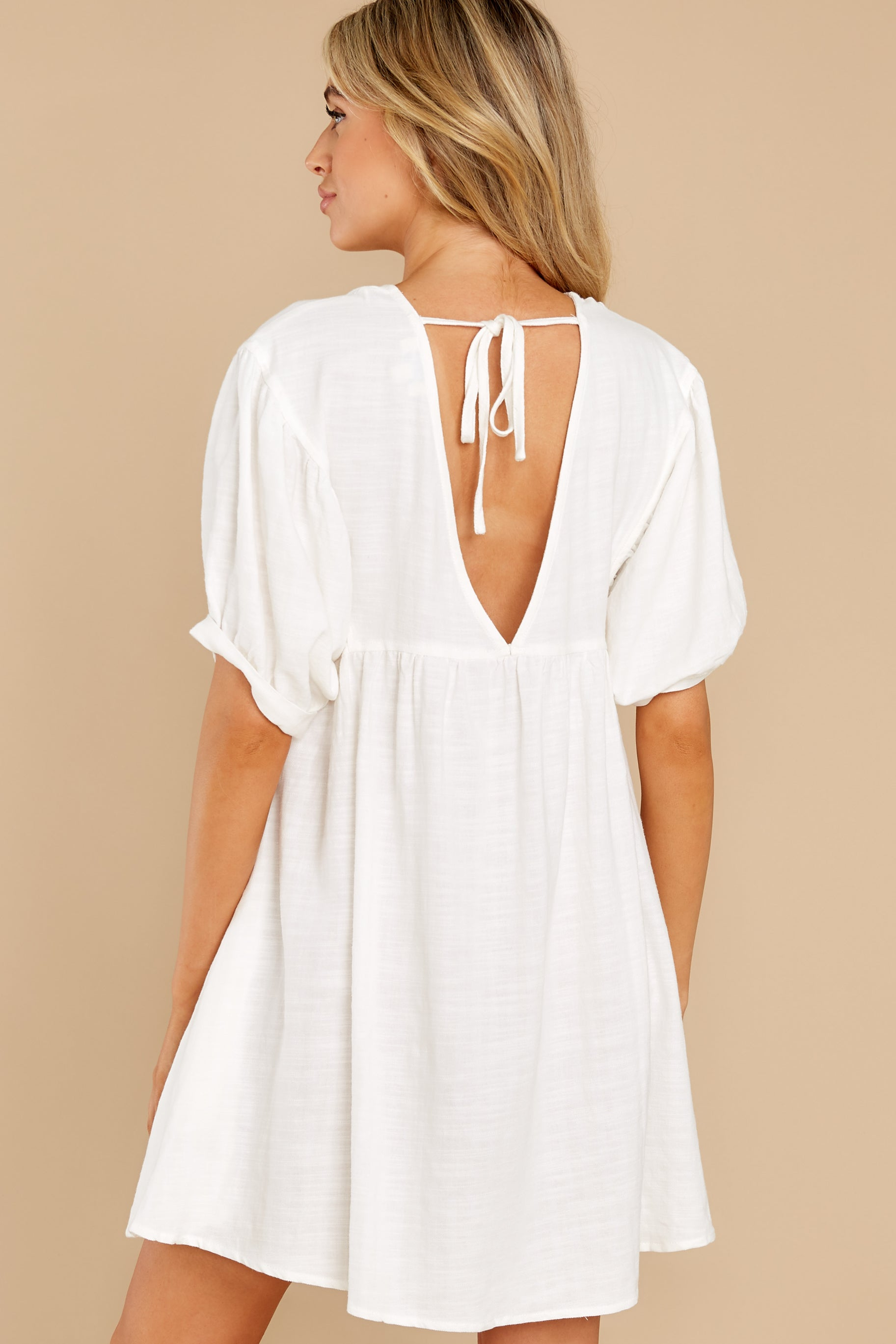 8 Being Subtle Off White Dress at reddress.com