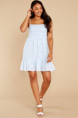 2 Forward Thinking Light Blue Floral Print Dress at reddress.com