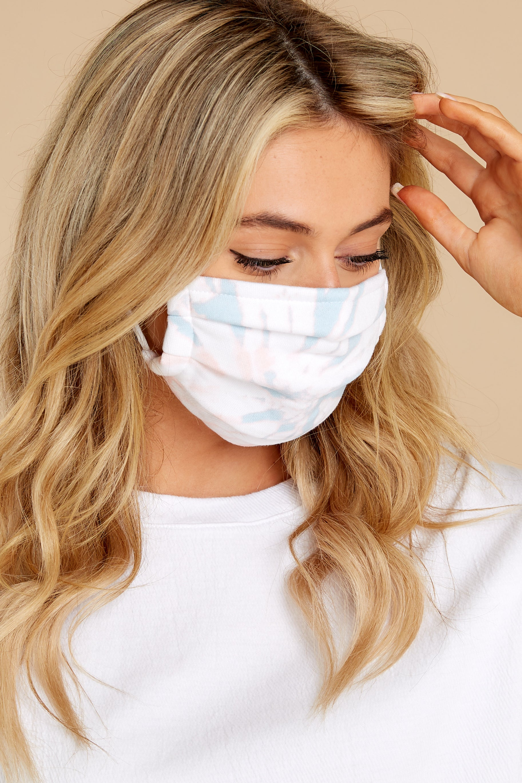 2 The Tie Dye Grey Reusable Face Mask (2-Pack) at reddress.com