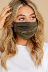 1 The Camo Green/Black Reusable Face Mask (2-Pack) at reddress.com