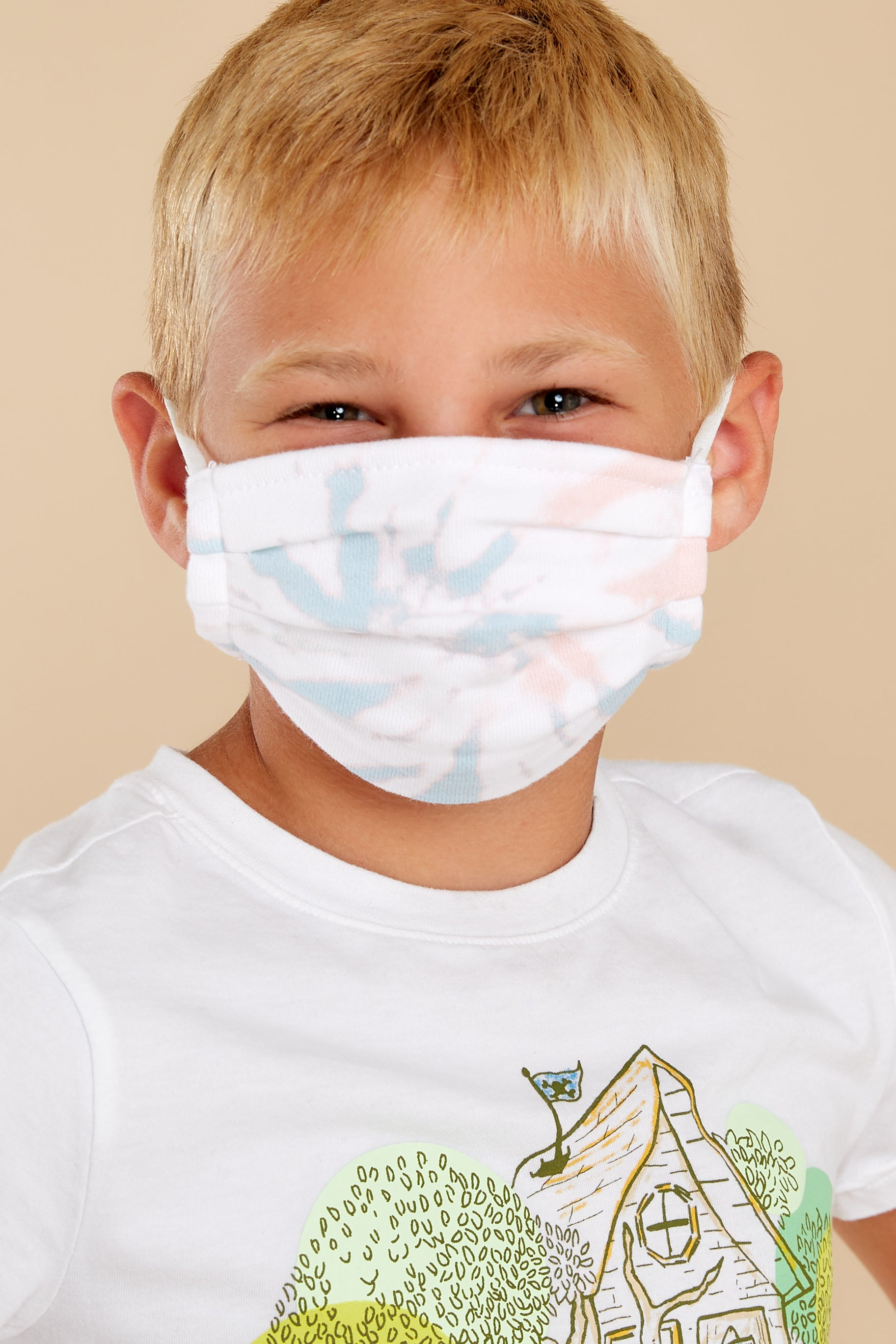 1 The Tie Dye Grey Kids Tie Dye Reusable Face Mask (2-Pack) at redddress.com