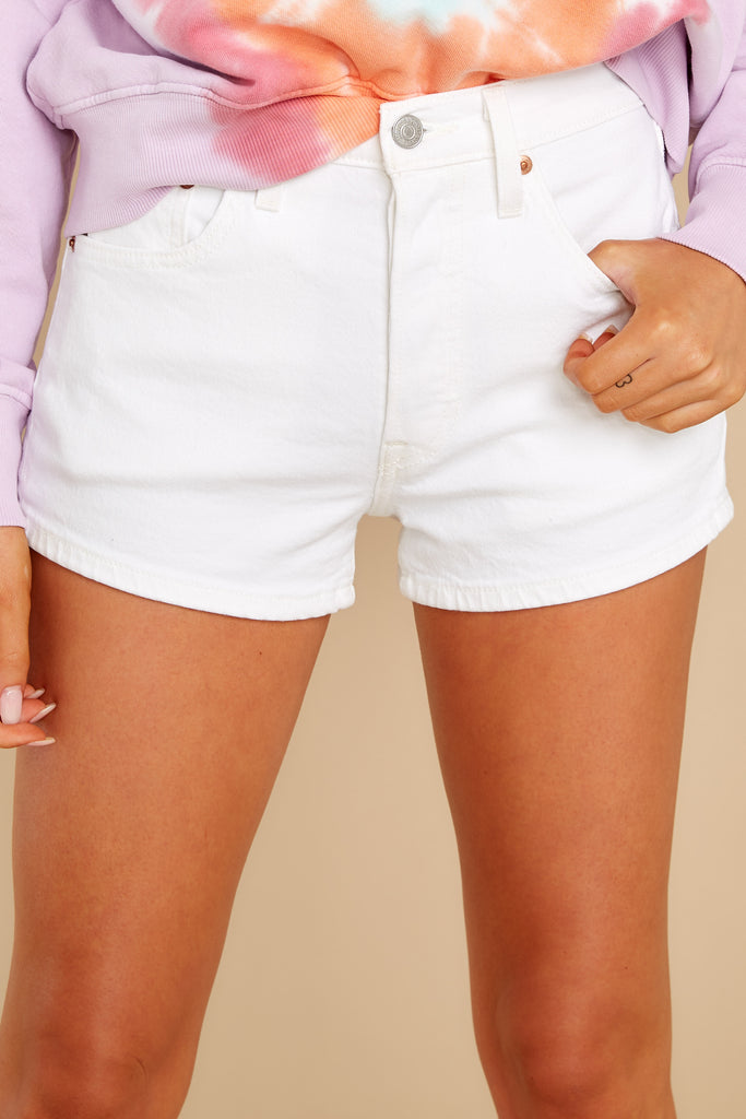 1 Have Something To Do Light Wash Denim Shorts at reddress.com