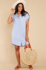 2 Not By Coincidence Denim Blue Shirt Dress at reddress.com