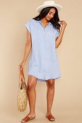 1 Not By Coincidence Denim Blue Shirt Dress at reddress.com