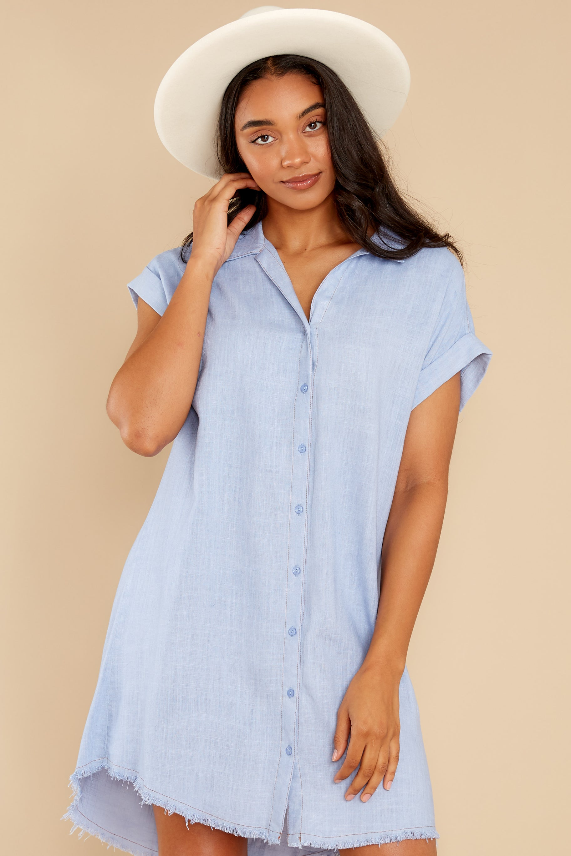 4 Not By Coincidence Denim Blue Shirt Dress at reddress.com