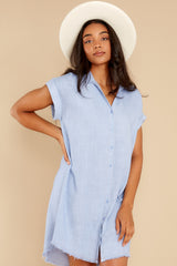 5 Not By Coincidence Denim Blue Shirt Dress at reddress.com