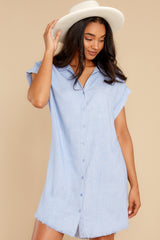 6 Not By Coincidence Denim Blue Shirt Dress at reddress.com